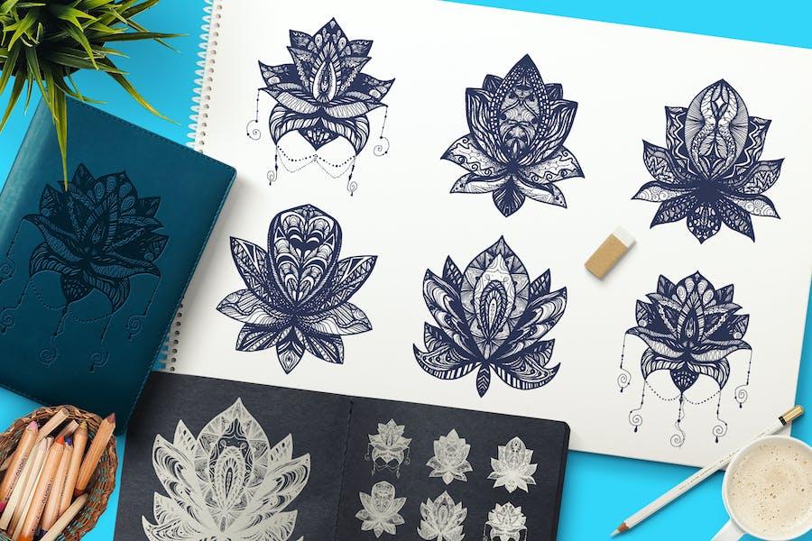 Boho Mandala Lotuses
