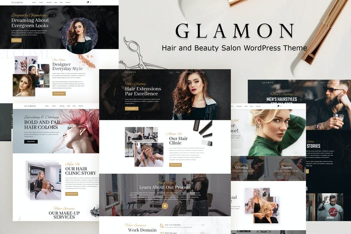 Thumbnail for Glamon - Salon & Barber Shop Theme