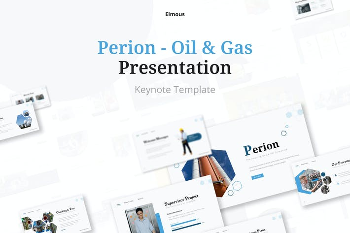 Perion Gas & Oil Keynote Presentation Template