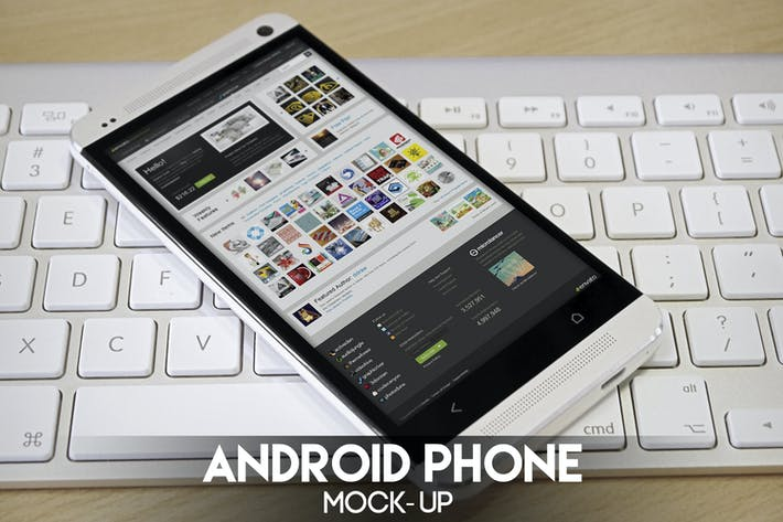 Cover Image For Android Phone Mock-Up