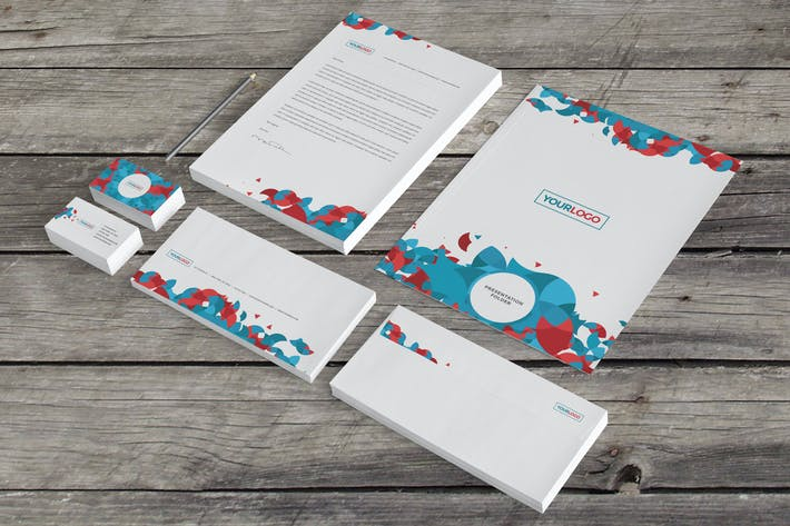 Cover Image For Modern Circles Stationery