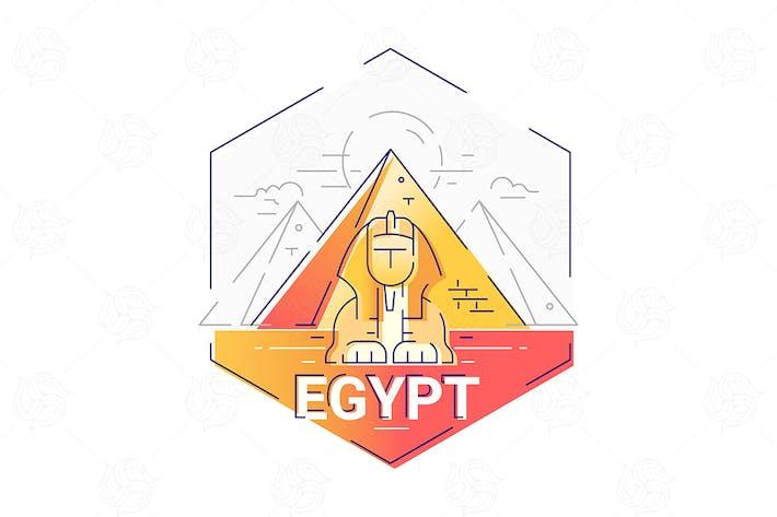 Thumbnail for Egypt - modern vector line travel illustration