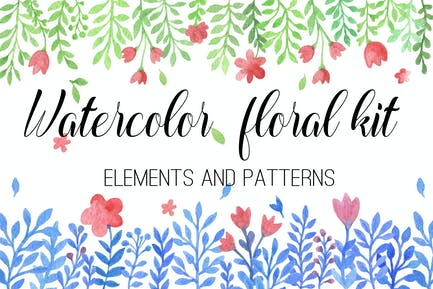 Watercolor Floral Kit