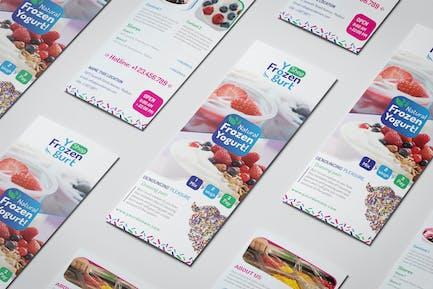 Frozen Yogurt Shop/ Take-out Brochure Template