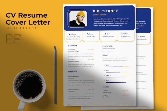Thumbnail for Kiki Tierney - CV Resume Template