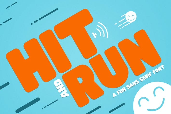 Thumbnail for Hit and Run - Fun Sans Serif Font
