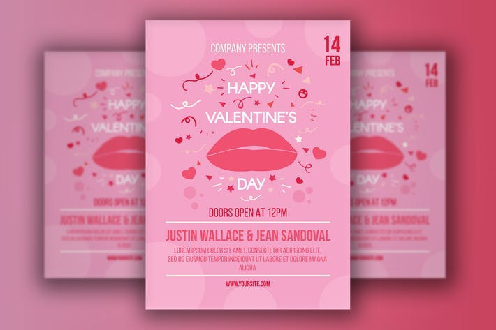 Cover Image For Valentine's Day Poster With Lips