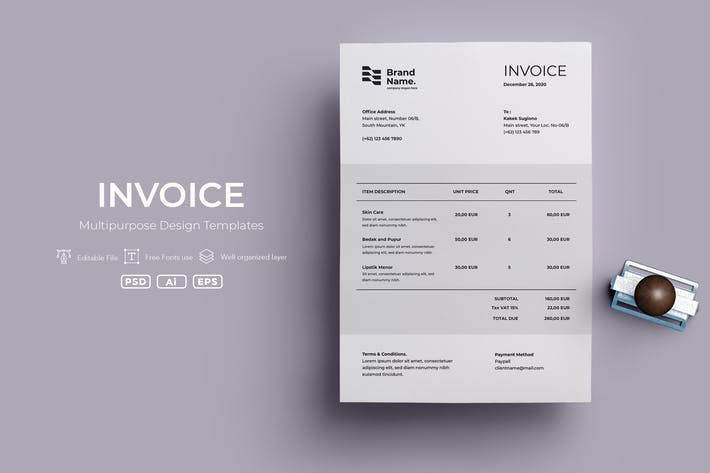 Thumbnail for ADL Invoice Template.v13