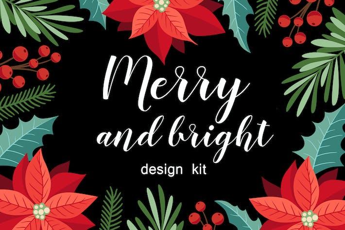 Thumbnail for Счастливого и яркого Рождества Дизайн Kit