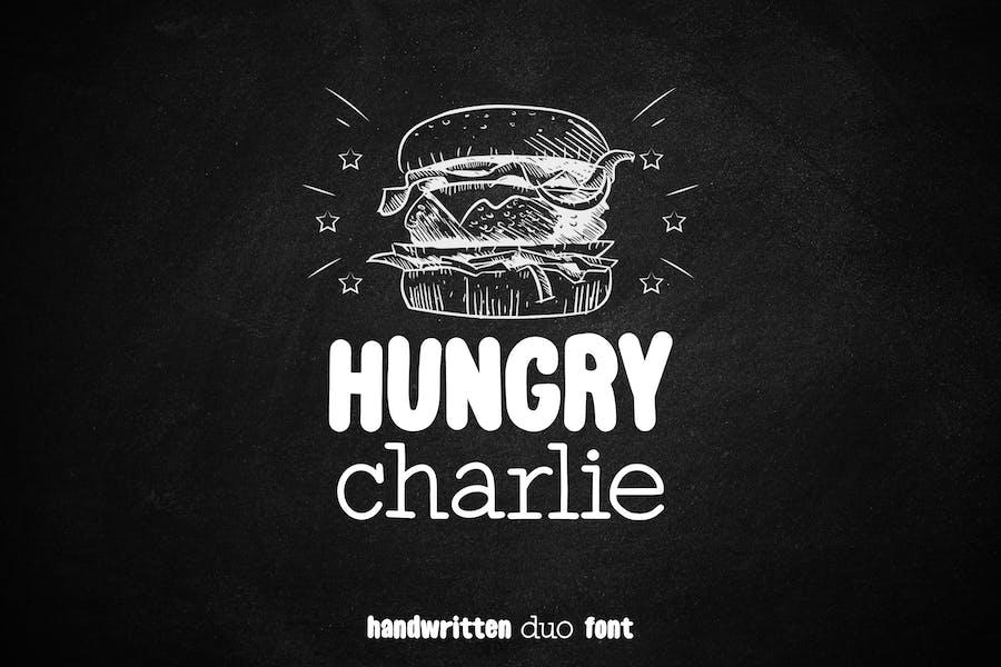 Hungry Charlie - Fuente Dúo manuscrita