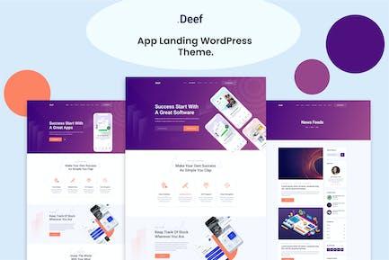 Deef - App Landing WordPress Theme