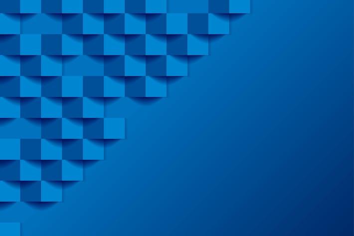 Thumbnail for Blue tech geometric mosaic 3d squares