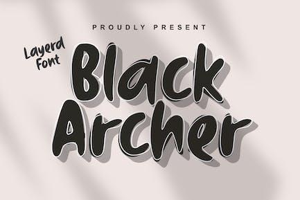DS Black Archer - Layerd Font