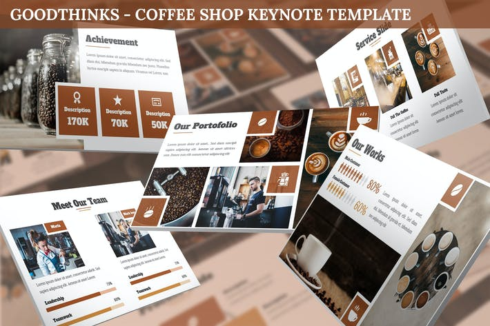 GoodThinks - Шаблон Keynote Кофейня