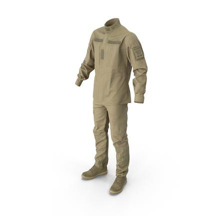 Militäruniform mit Stiefeln