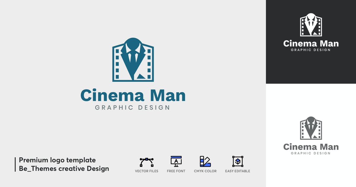 Download Cinema Man Logo by Be_Themes