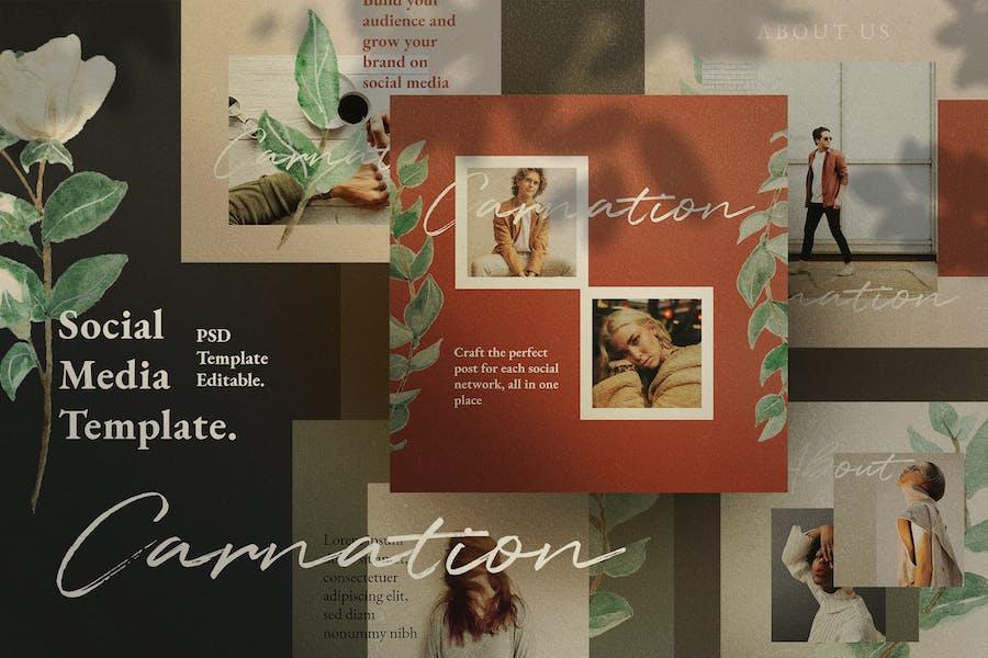 Carnation - Social Media Template + Stories