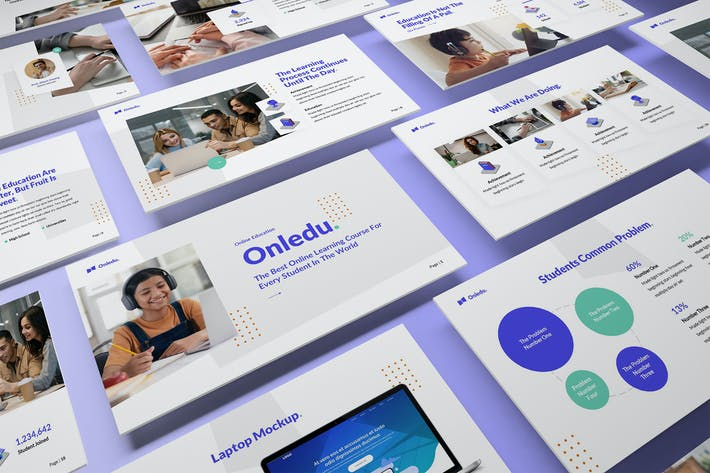 Thumbnail for Onledu - Education Powerpoint Template