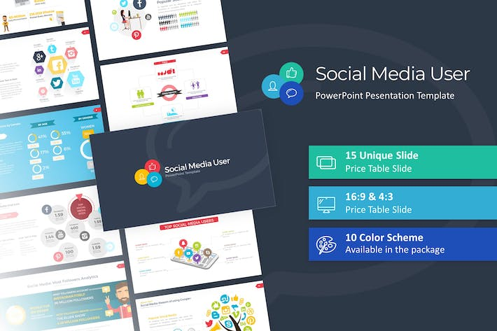 Thumbnail for Social Media User PowerPoint Template