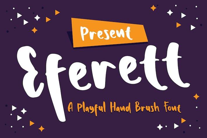 Thumbnail for Eferett - Una fuente de cepillo de mano juguetón