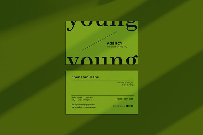 Thumbnail for Young Agency Business Card