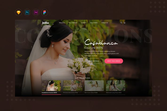 Thumbnail for DailyUI.V12 Bridal or Wedding Dress Rent Website