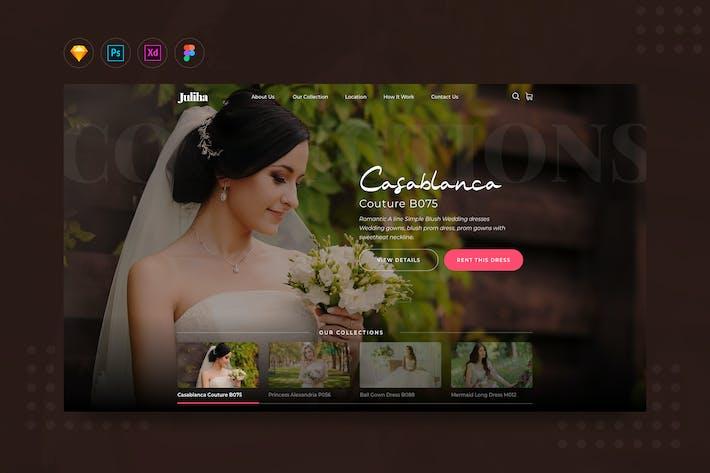 DailyUI.V12 Bridal or Wedding Dress Rent Website