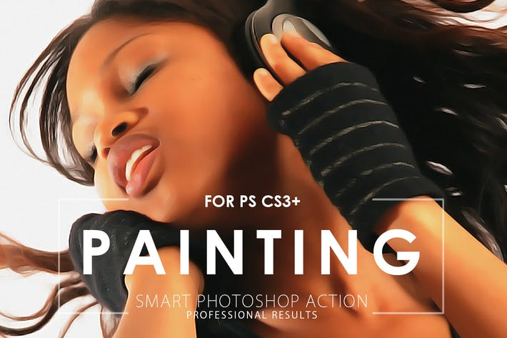 Thumbnail for Realistic Painting Photoshop Action V.2