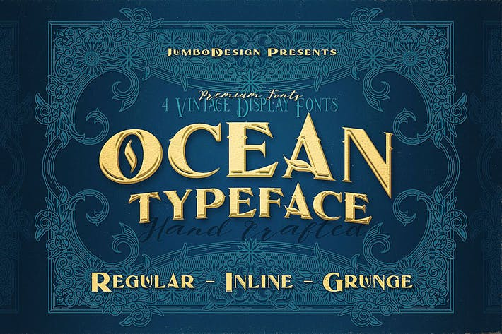 Thumbnail for Ocean - Display Font