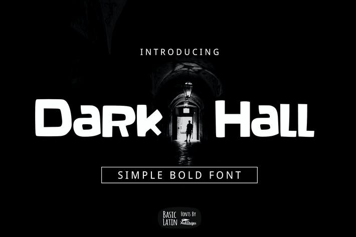 Thumbnail for Dark Hall Font