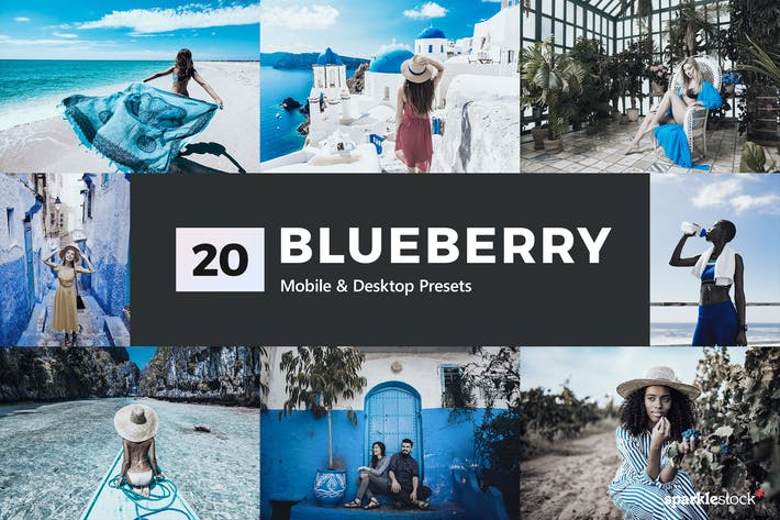 Thumbnail for 20 Blueberry Lightroom Presets & LUTs