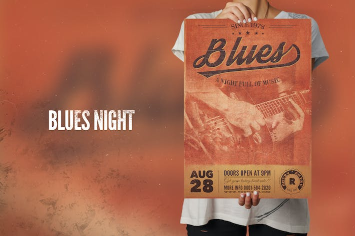 Thumbnail for Blues Music Flyer Poster