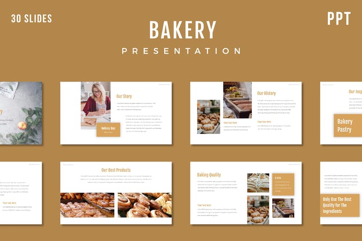 Thumbnail for Bakery Presentation Template - (PPT)