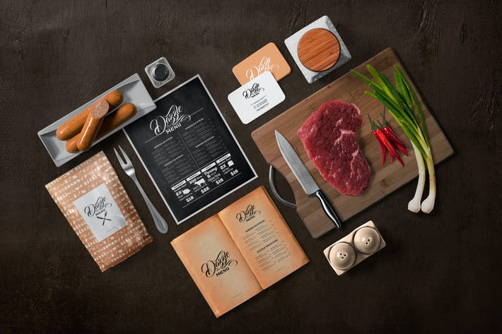 Thumbnail for Restaurant Menu Mockup Scenes
