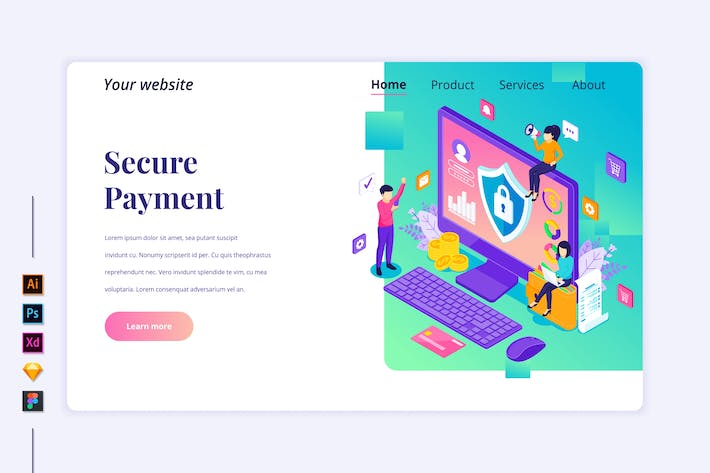 Thumbnail for Online Payment Isometric - Agnytemp