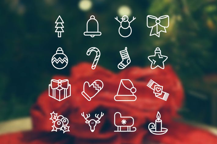 Thumbnail for Christmas 16 Icons Set