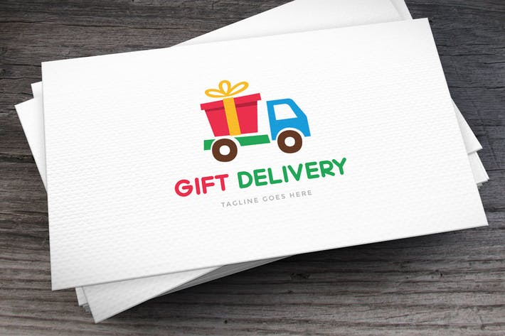 Cover Image For Gift Delivery Logo Template