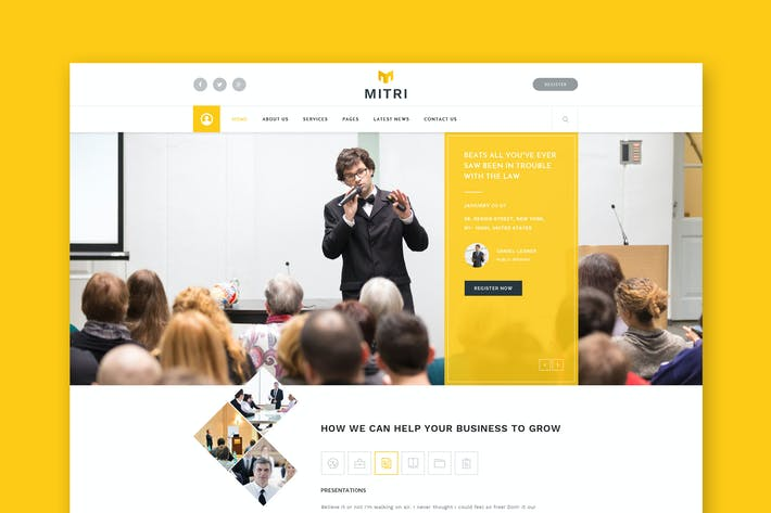 Thumbnail for Mitri Events - Events & Conference PSD Template