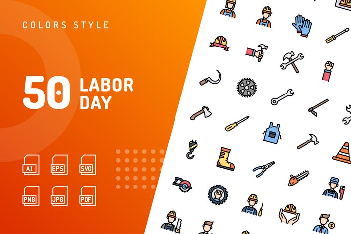 Thumbnail for Labor Day Color Icons