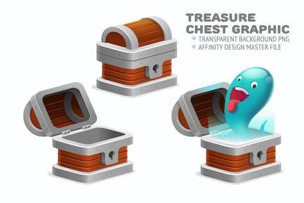 Treasure Chest graphic editable