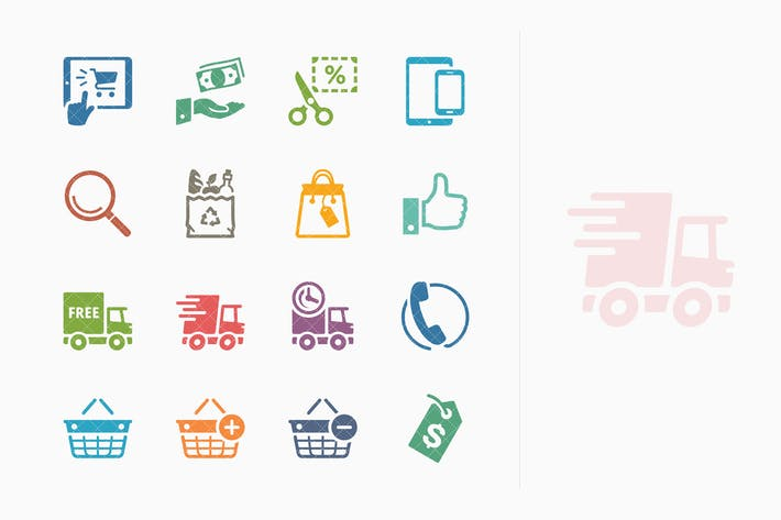 Thumbnail for E-commerce Icons Set 4 - Colored Series