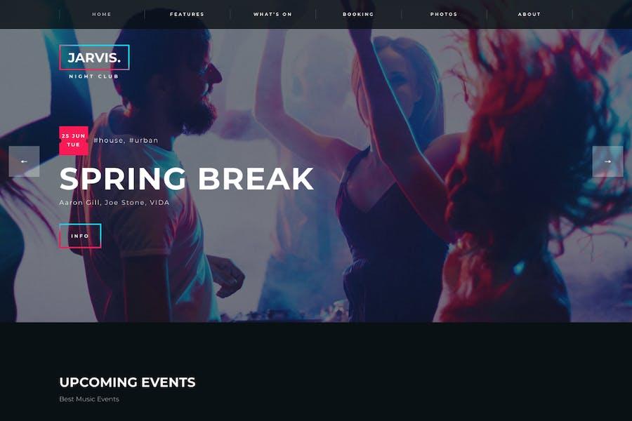 Jarvis - Night Club, Concert, Festival WordPress