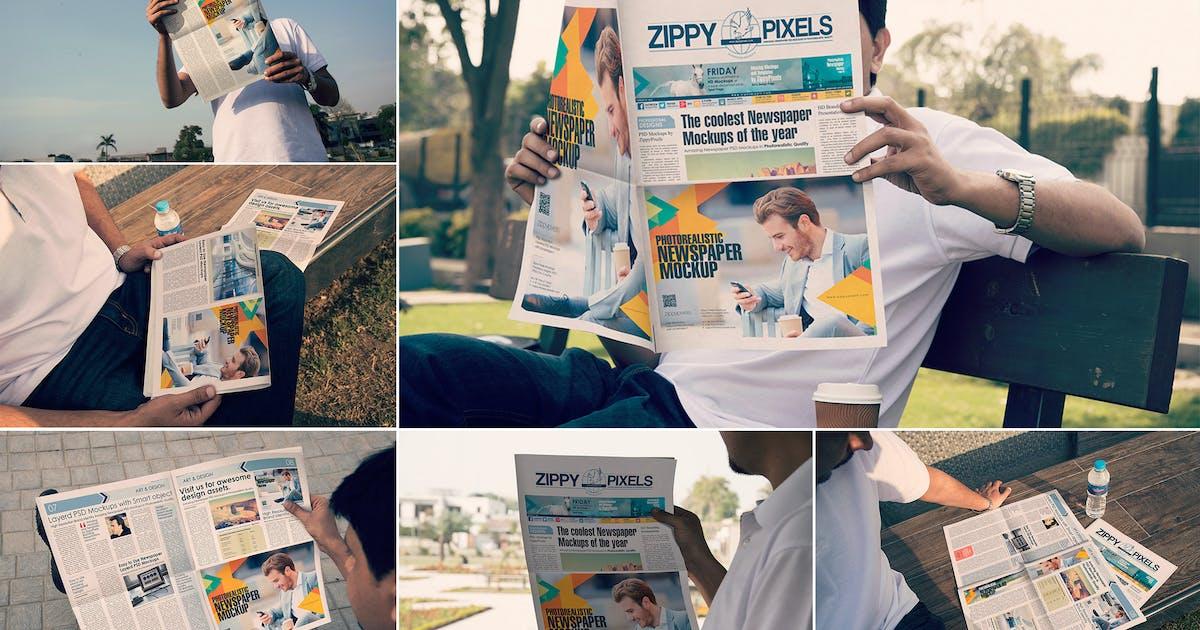 Download Outdoor Newspaper Mockups by zippypixels