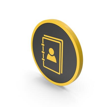 Icon Address Book Yellow