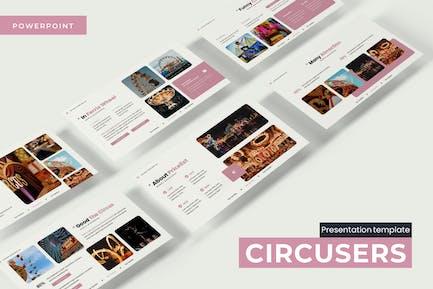 Циркусы - Powerpoint Шаблон