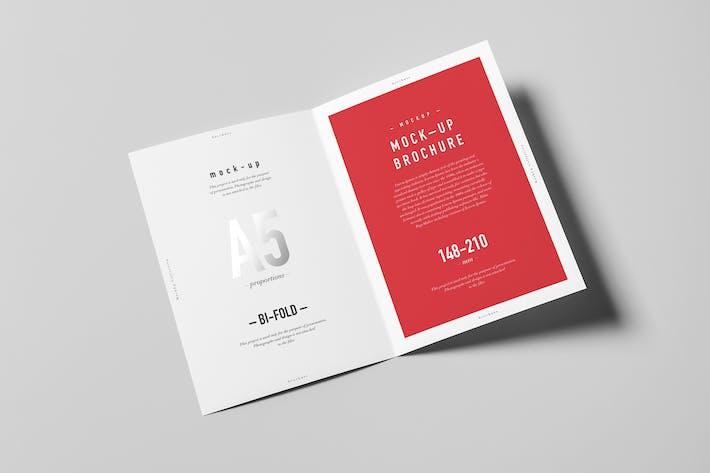Thumbnail for Bi-Fold A5 Brochure Mock-up