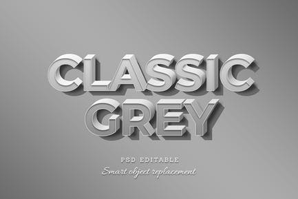 Classic Grey Text Effect
