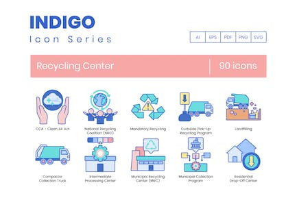 90 Recycling Center Icons
