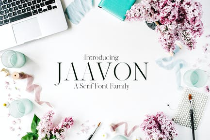 Jaavon Con serifa Familia tipográfica