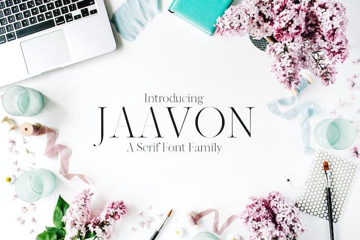 Thumbnail for Jaavon Con serifa Familia tipográfica